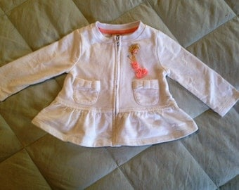 Zip Sweater with Mermaid, 6-9 Months