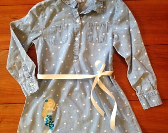 Dress with Mermaid and grosgrain ribbon belt, Size X-Small (5)