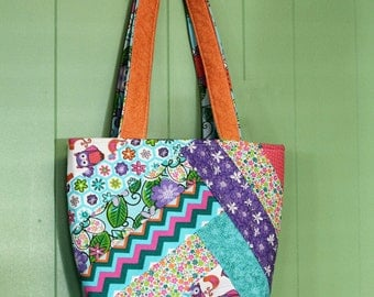 cutest little patch work tote