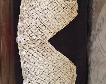 Crocheted Nightgown Yolk