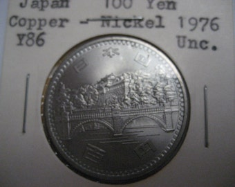 "BU 1976 Japan 100 YEN ""50th Anniversary of Reign"" Foreign Coin ~ KMY86"