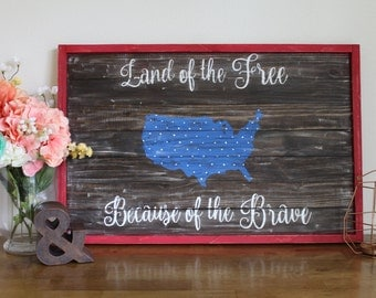 Land of the Free Americana sign