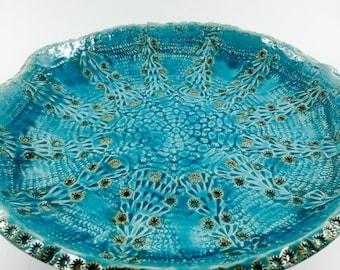 "Large ceramic bowl ""Snowflake"""