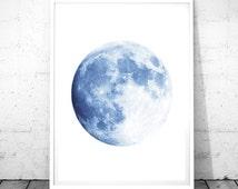 Moon Printable, Moon Poster, Moon Print, Moon Photo, Moon Art Print, Moon Photography, Full Moon, Moon Wall Art, Large Moon Print, Space Art