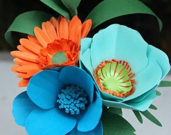 Blue and Orange Bouquet