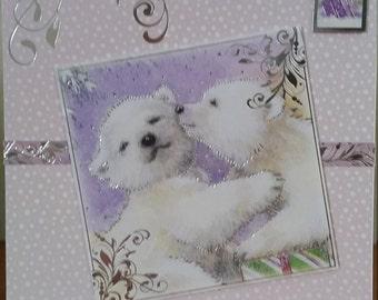 Just for you polar bear christmas card