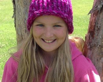 Electric Pink Kids Hat