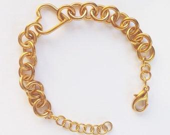 Links Bracelet, Gold bracelet, Delicate Chain Bracelet, Minimal Bracelet, dainty gold bracelet, simple bracelet, 14k Gold, For Her