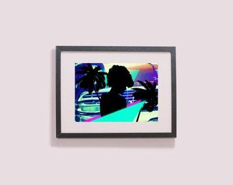 That Retro Feel - Retrowave Art - Digital Print - Instant Download