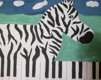 Surrealistic Zebra/Piano
