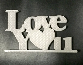 Love You Sign on Stand