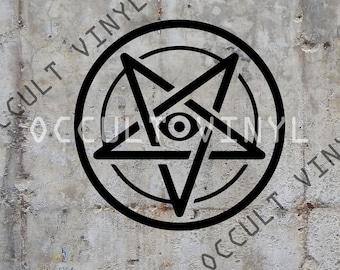 All seeing eye pentagram
