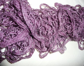 Sashay Scarf - Purple with Silver Sparkles