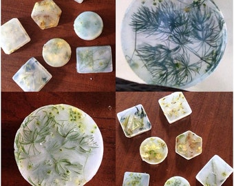 Handmade glycerin soap with real flowers