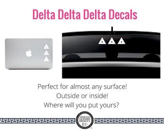 Delta Delta Delta Decal . Greek Car & Laptop Decal