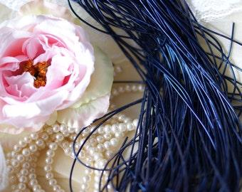 Navy Blue purl-Goldwork Purl-Gold Wire-Metallic Rough Wire-Blue Wire-Blue purl- Dapka