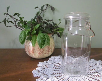 Vintage Square Clear Presto Mason Lightning Jar - 1920s