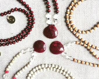 Ruby Necklace - July Birthstone
