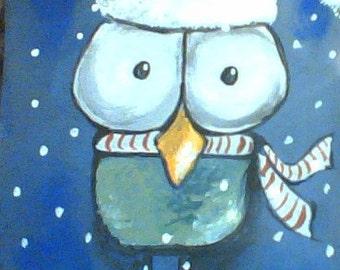 Five (5) piece Hooty Owl Christmas Cards