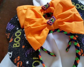 """Boo To You! (With Resin """"Boo!"""") Inspired Mouse Ears"""