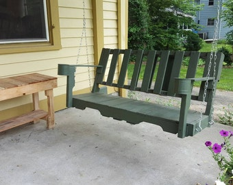 pallet wood porch swing - Wooden Porch Swing