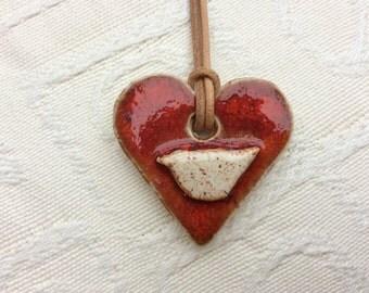 heart bird necklace