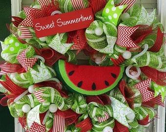 Watermelon Summer Wreath