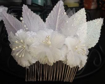 Flower Bridal Hair Comb