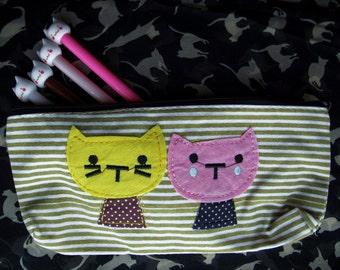 Cute Kittens Pencil Case Makeup Pouch