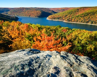 Autumn River Overlook at Allegheny National Forest