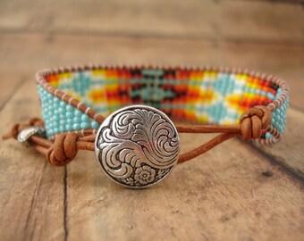 Native Inspired Beaded Bracelet