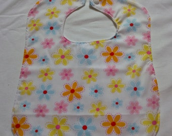 Flower bib with jersey backing