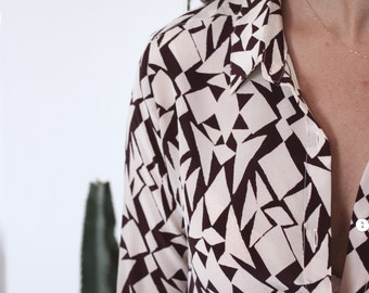American vintage silk shirt