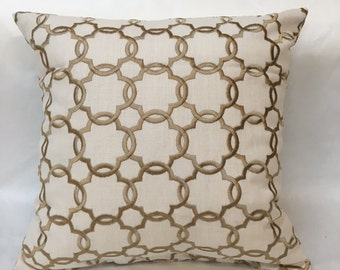 Decorative Gold Pillow Cover