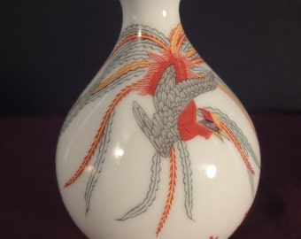 Miniature Vase in colorful pattern height 9cm