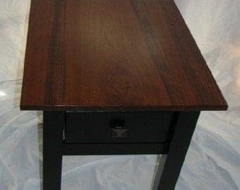 Poplar Narrow Cottage End Table