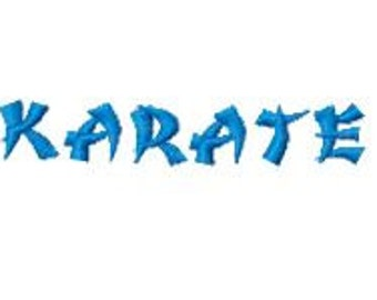 Buy 2, Get 1 Free, Karate Embroidery Font, Instant Download, PES format