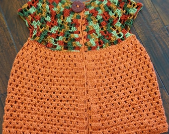 Crochet Sweater / Open front cardigan / Fall Sweater