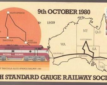 1980 Australia Perth Standard Gauge Railway Opening of Tarcoola - Alice Springs Railway Train PSE