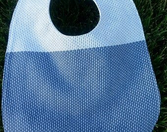 Vintage fabric gender neutral cotton snap bib