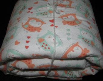 OWL cozy baby blanket