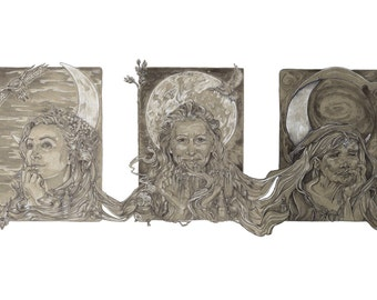 Triple Goddess LIMITED EDITION PRINT