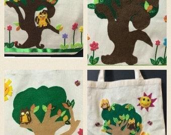 Handmade Felt Canvas Tote Bags