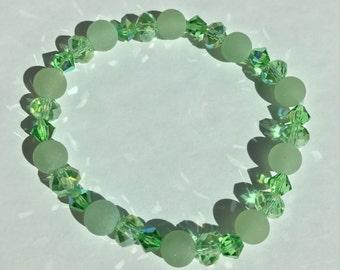 Genuine Aventurine bracelet Prosperity Wealth Good luck Abundance