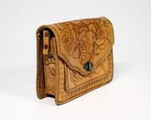 Brown leather m. Castillo Mexico bag
