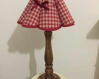 Red Gingham Bow Table Lamp