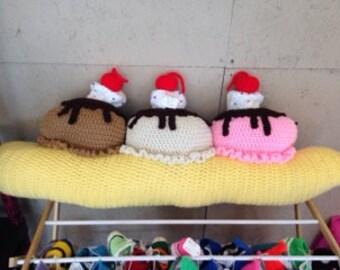 Crocheted Banana Split Pillow