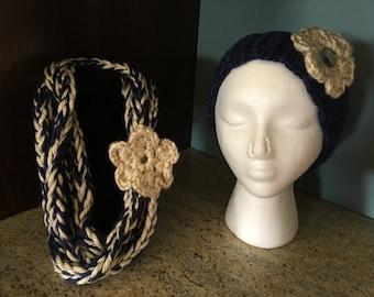Crochet Ear Warmers and Scarf