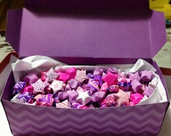 200 Pink and purple paper stars