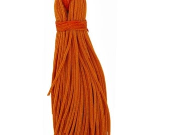 French Metallic Stiff Copper Bullion For Embroidery Work - 100 Gram Packet - Orange in color